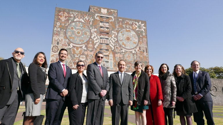 In January 2018, a delegation from IUPUI visited Mexico to strengthen research partnerships and explore expansion of study abroad and graduate student recruitment.