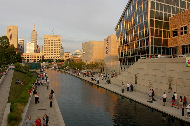 downtown Indy canal.