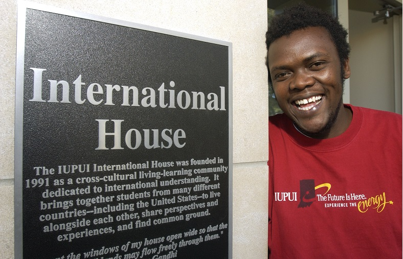 Michael from Uganda at I-House