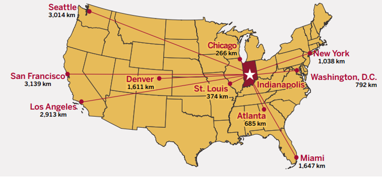 About Indianapolis Living In Indianapolis Office Of International - Indianapolis-in-us-map