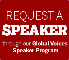 Request a speaker for your course with the Global Voices Speakers Prgoram